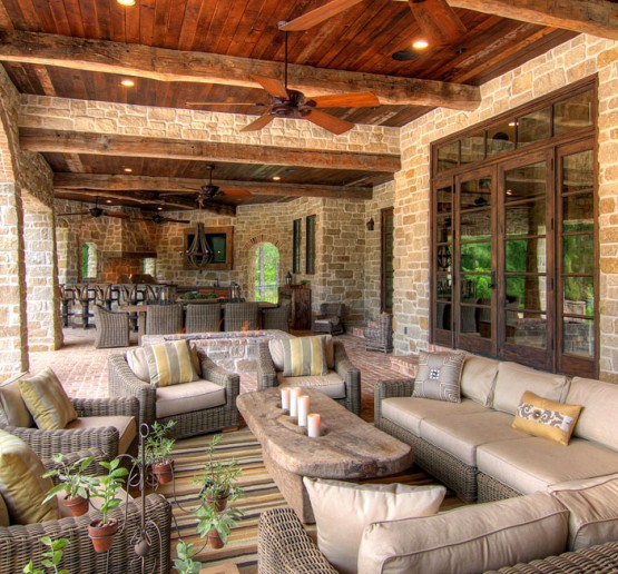 Outstanding Outdoor Tuscan Style Living Rooms