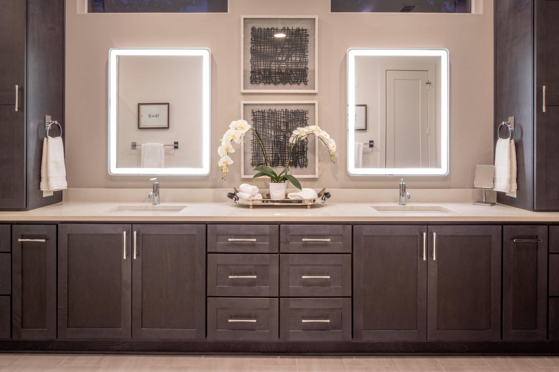 Loegering Master Bath Vanity After Eklektik Interiors Houston Texas